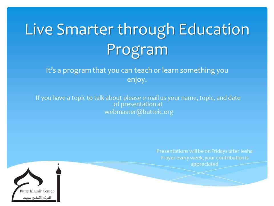 Live Smarter through Education Program